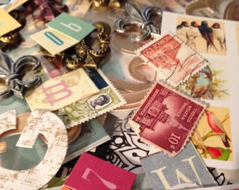 Lot Paper, Stamps and Stickers