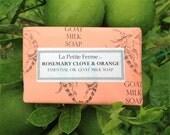 Rosemary Clove and Orange Essential Oil Goat Milk Soap, stocking stuffer, gift for her, gift for him, gift for shower, gift under 10