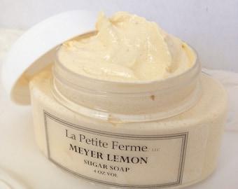 Lemon Sugar Soap - Whipped sugar body souffle - NEW