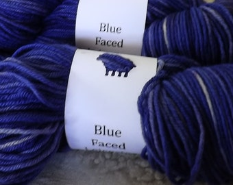 Blue faced Leicester Wool- Blue/purple 403827