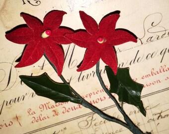 Vintage Japan Poinsettia Decoration