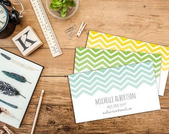 Chevron Calling Card/Business Card, Set of 50 or 100 Calling Cards, Custom Business Cards, Personalized Calling Cards, Fun Calling Cards
