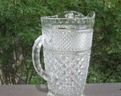 Large Vintage Wexford Pitcher - Wexford Glass Pitcher - Anchor Hocking - Mothers Day