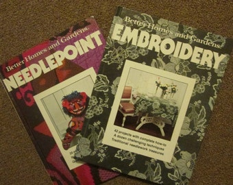 Vintage Craft Books - Needlepoint/ Embroidery