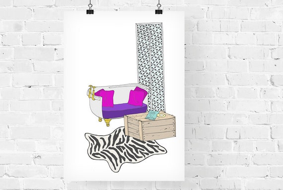 Holly Golightly's Apartment Decorative Illustration Art Print