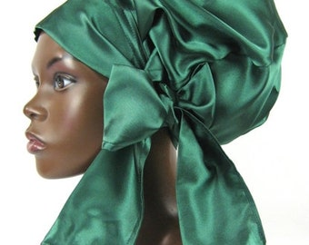 Sweet Sleep Slumber Cap Bonnet Emerald Green-Natural Hair Accessories