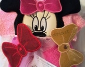Girl Mouse Detachable Bows ADD ON Listing is for snap on bows only!