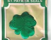 Vintage Dennison St. Patrick's Shamrock Embossed Seals Mint in Package Set of 12 Unopened