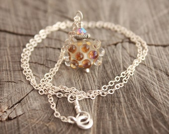 Handmade Lampwork Bubble Necklace