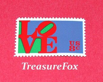 Original 8 cent LOVE stamp set of 50 .. Unused Vintage Postage Stamps .. 1st  LOVE stamp.