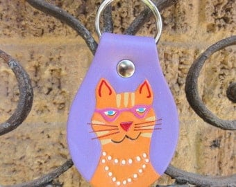 Key Fob with Cool Cat