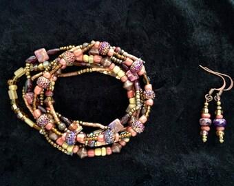 Earthy Tones Bracelet & Earring Set
