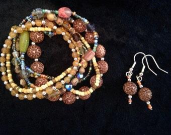 Tree Hugger Hearts Bracelet & Earring Set