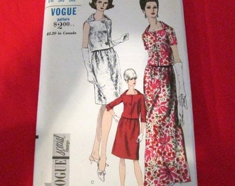 Vintage Vogue Special Design Sewing Pattern 6779 Two Piece Evenineg Gown  Size 16 Bust 36 Hip 38