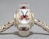 Butterfly Bead Handmade Lampwork Euro Charm Limited Edition Garden Butterflies