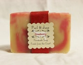 Cranberry Goat Milk Soap Holiday Scent