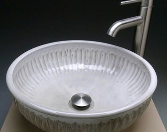 Custom Handmade Pottery Unique Creatively Sculpted Vessel Sink Designed For Your Bathroom Remodeling