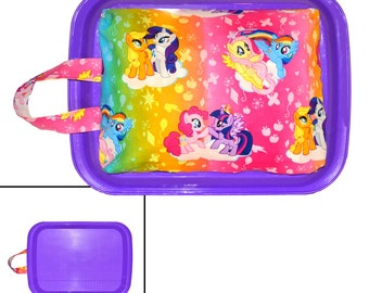 KIDS LAP DESK -  Made From My Little Pony Fabric - Great For Car Trips