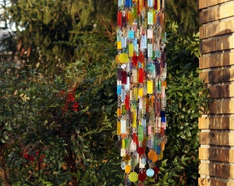 Fun With Color, Too One-Of-A-Kind, Glass Wind Chimes, Suncatcher, Glass Mobile