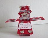 Happy Valentines Day Love Hearts Pop Up Card In A Box Followed My Heart