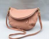 Alberta leather bag in blush