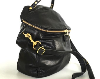 Enoki leather bag / black