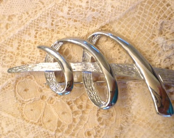 Silver JJ Designed  Spiral  Brooch