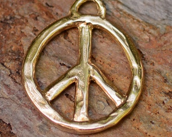 Artisan Bronze Peace Pendant