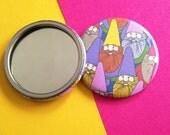 Mister Gnome, Patterned Pocket Mirror