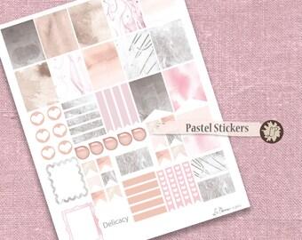 Pastel Planner Stickers, Delicate Color Printable Planner Stickers, watercolor Life Planner Stickers, plan, planner decoration LIZPLUMMER