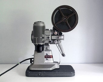 16mm Film Projector, 1950s Bell and Howell 273 Model A, Silent Movie Projector, Vintage Electronics, Carrying Case, Industrial Decor