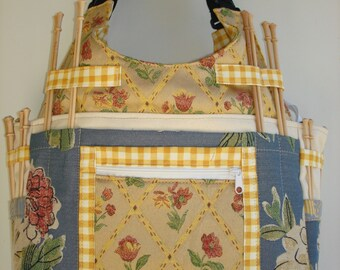 Large Knitting/Crochet Tote Bag-PETALUMA