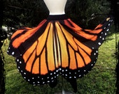 ON SALE Monarch Butterfly Wings Skirt Custom Made For You - Any Size - Festival Tribal Wicca Dance Maxi Belly Dance Wedding Gothic Faery Fae