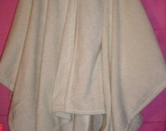 White Cape,White Hooded Capes,Fleece Cloak,Plus Size Capes,Hooded Fleece Ponchos