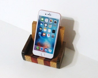 Cell Phone Rest / Desk organizer For Home Or Office Made Of  Wood