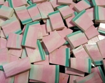 Mosaic Tiles 100 nice sizes TEAL PINK broken China mosaic Tile