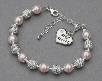 Step Sister Gift, Step Sister Charm Bracelet, Step Sister Jewelry, Blended Family, Sister Birthday, Sister Gifts, Sister Gift Idea