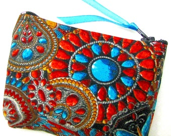 Coin purse, Small coin purse, Small zippered coin purse, Zipper coin purse, Wallet, Arizona Jewels