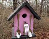 Birdhouse Pink Spoons Fork Utensil Restaurant Caterer Chef Fully Functional