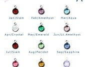 Birthstone Charm Add-On | Add-on Swarovski Crystal Birthstone | Silver or Gold