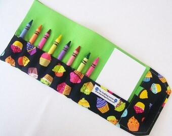 Crayon Wallet - Cupcakes