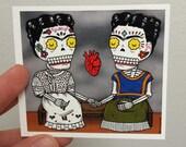Dos Fridas Vinyl Sticker Day of the Dead