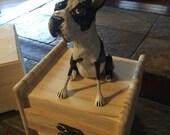 Custom Dog Sculpture on a Wooden Box