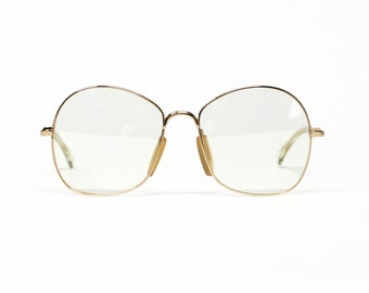 MARWITZ Gold Filled Vintage Eyeglasses Frame, oversized glasses, German eyewear, round eyeglasses in unworn deadstock condition