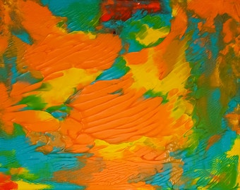 Welcome to the Land of Pumpkin Honey - colorful abstract painting