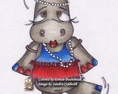 738  Roaring Hippo Digi Stamp