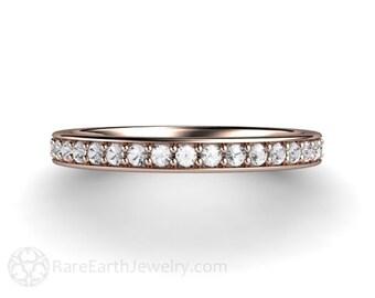 Diamond Wedding Band Diamond Anniversary Band Diamond Ring 14K or 18K Gold Platinum or Palladium