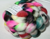 hand dyed fiber - SW Merino fiber - Spray Painted Lily colorway (dyelot 1101)