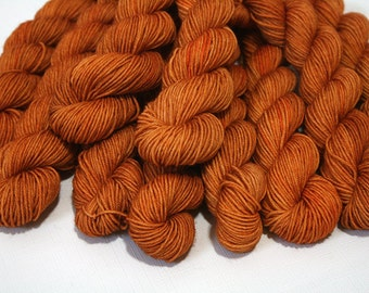 hand dyed yarn - 20g Quick Step Sock MINIS - Maple colorway (dyelot 71316)