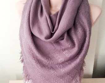 Powder Pink Scarf -Pink color Blanket Scarf
